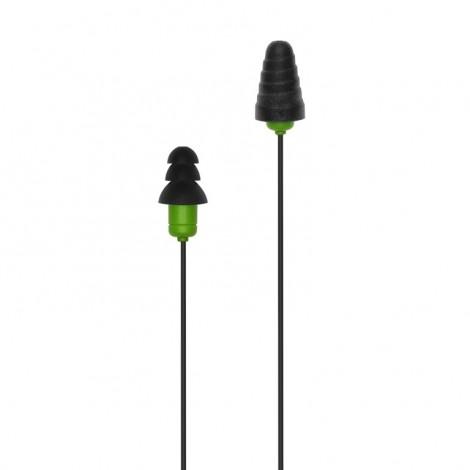 Plugfones Protector Series Earplug Headphones Blk/Grn PIP-BE