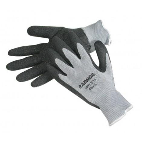 Radnor String Knit Gloves Large Latex Palm Grey