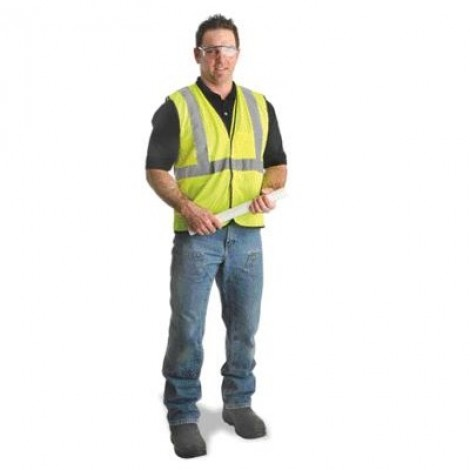 Radnor Polyester Mesh Safety Vest Large/XL Yellow ECOGC-YL/XL