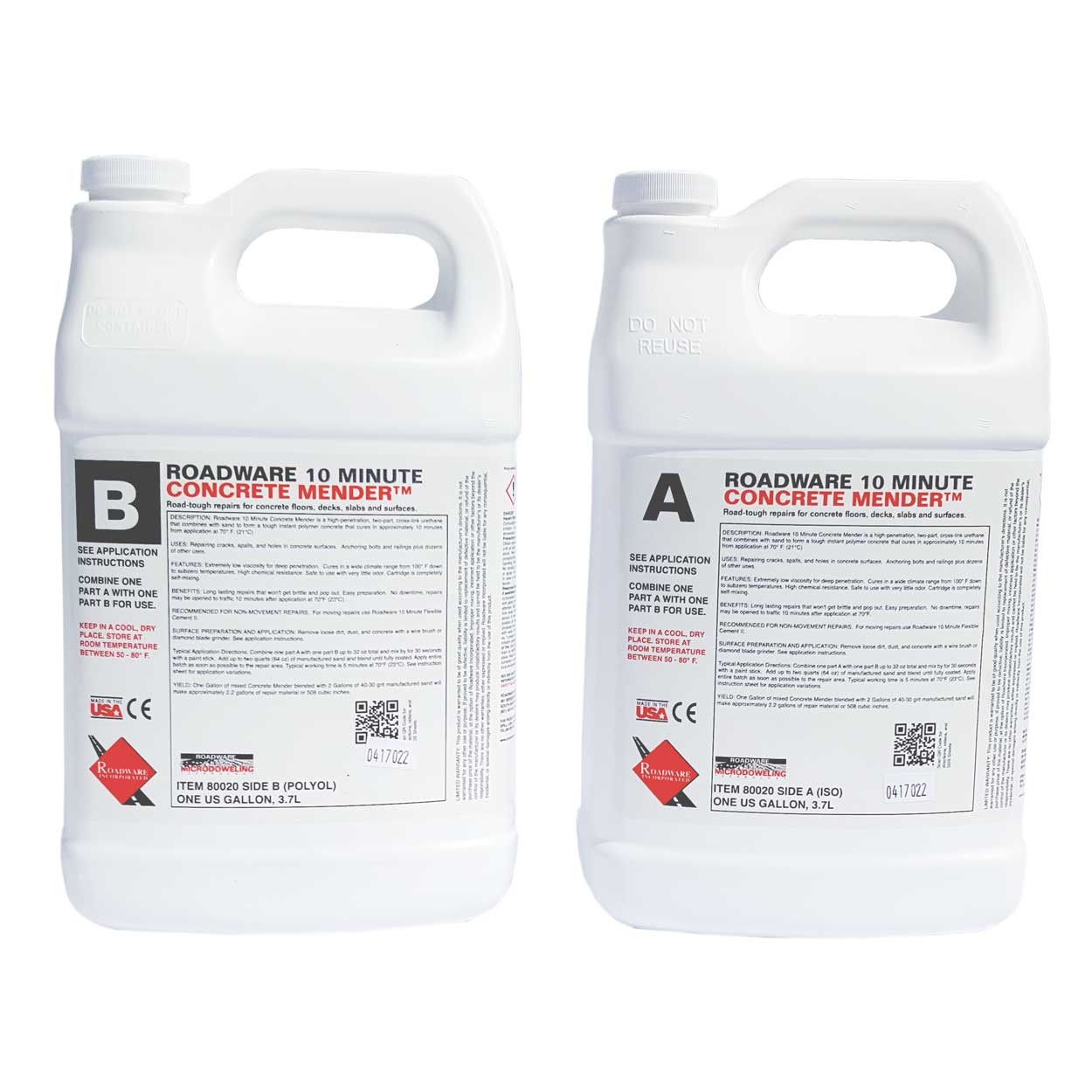 Roadware 10 Minute Concrete Mender 2 Gallon 80020