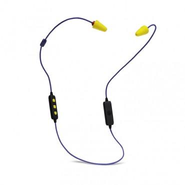 Plugfones FreeReign Series VL Earplug Headphones Blu/Yel PIF-BE(VL)