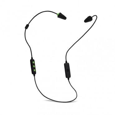 Plugfones FreeReign Series Earplug Headphones Blk/Grn PIF-BE