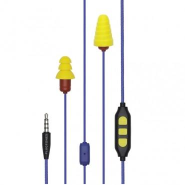 Plugfones Protector Plus Series VL Earplug Headphones Blu/Yel PIPP-UY(VL)