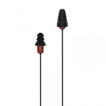Plugfones Protector Series VL Earplug Headphones Blk/R PIP-BR(VL)