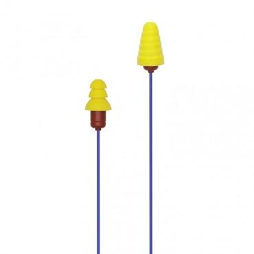 Plugfones Protector Series VL Earplug Headphones Blu/Yel PIP-UY(VL)