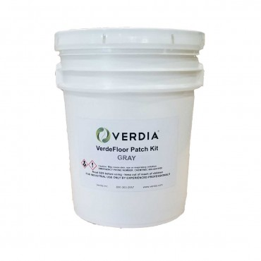 Verdia VerdeFloor Patch Kit Gray 5 Gallon Pail