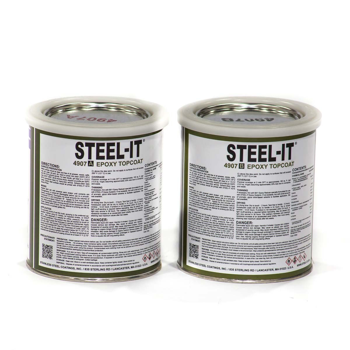 Epoxy Paint What Is It And What Is It Used For: Steel-It Epoxy Finish 2 Quart Kit 4907Q