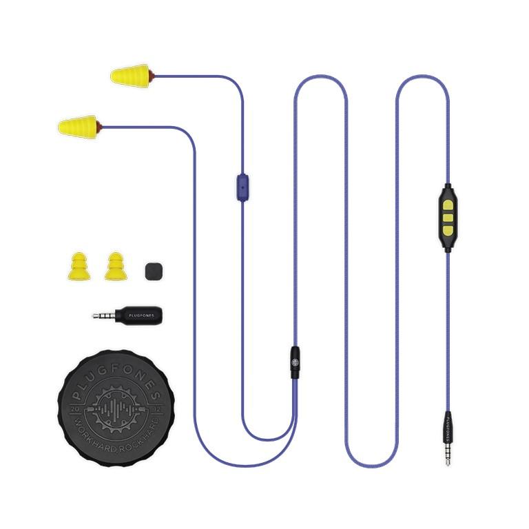 Plugfones Protector Plus Series Vl Earplug Headphones Blu