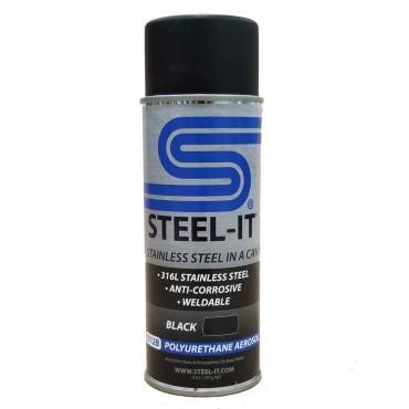Steel-It Polyurethane Aerosol Black 1012B